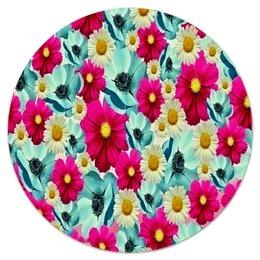 """Коврик для мышки (круглый) """"Цветочный сад"""" - цветы, весна, сад, цветные, цветочки"""