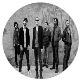 "Коврик для мышки (круглый) ""Linkin Park"" - музыка, рок, группа, linkin park, линкин парк"