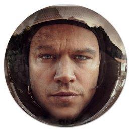 "Коврик для мышки (круглый) ""Марсианин"" - планета, космос, марс, martian, мэтт дэймон"
