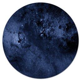 """Коврик для мышки (круглый) """"Звезды в небе"""" - звезды, космос, небо, синий, краски"""