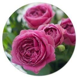 """Коврик для мышки (круглый) """"Розовые розы"""" - праздник, цветы, весна, розовый, розы"""