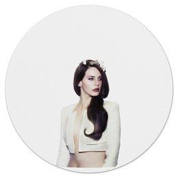 """Коврик для мышки (круглый) """"Lana Del Rey"""" - lana del rey, лана дель рей"""