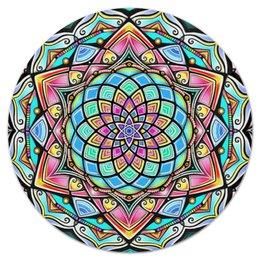 """Коврик для мышки (круглый) """"Mandala HD2"""" - узор, ретро, классика, этно, симметрия"""