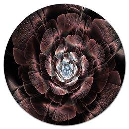 """Коврик для мышки (круглый) """"Цветок"""" - цветы, цветок, весна, абстракция, блеск"""