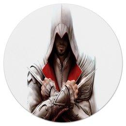 """Коврик для мышки (круглый) """"Assassin's Creed"""" - assassin's creed, ассасин, кредо убийцы, игры"""