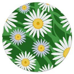 """Коврик для мышки (круглый) """"Ромашки"""" - цветы, весна, зеленый, природа, ромашки"""