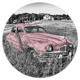 """Коврик для мышки (круглый) """"Раритет 1"""" - ретро, машина, автомобиль, пейзаж, раритет"""