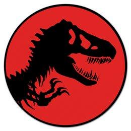 """Коврик для мышки (круглый) """"Jurassic Park"""" - фильмы, динозавры, парк юрского периода, jurassic park"""