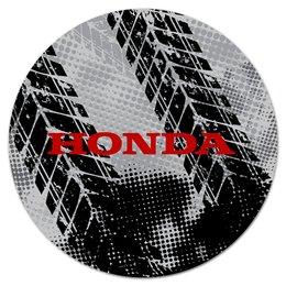 "Коврик для мышки (круглый) ""Honda"" - авто, автомобили, металл, honda, хонда"