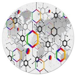 "Коврик для мышки (круглый) ""Формула"" - узор, текстура, формула, химия, молекулы"
