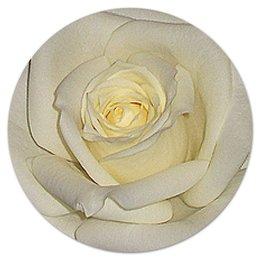 """Коврик для мышки (круглый) """"Белая роза."""" - цветы, цветок, роза, нежность, белая роза"""