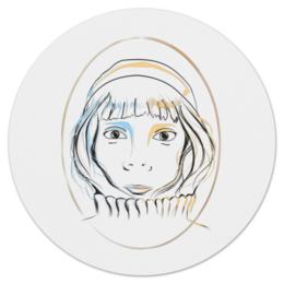 """Коврик для мышки (круглый) """"Елизавета"""" - арт, популярные, прикольные, в подарок, оригинально, креативно"""