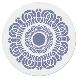 """Коврик для мышки (круглый) """"Символ лотоса"""" - восток, религия, символ, лотос, буддизм"""