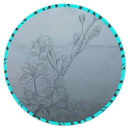 """Коврик для мышки (круглый) """"Сакура."""" - вишня, япония, сакура, цветение, цветы сакуры"""