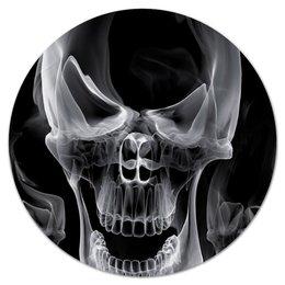 """Коврик для мышки (круглый) """"Череп"""" - череп, кости, каратель, фрэнк касл"""