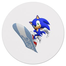 """Коврик для мышки (круглый) """"Sonic"""" - игры, ежик, мульт, соник, sonic"""