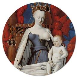 """Коврик для мышки (круглый) """"Дева Мария (Маленский диптих)"""" - картина, живопись, христианство, фуке"""