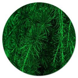 """Коврик для мышки (круглый) """"Зеленая ель"""" - деревья, зеленый, природа, елка, ель"""