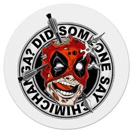 "Коврик для мышки (круглый) ""Chimichanga"" - комиксы, супергерой, deadpool, марвел, дэдпул"