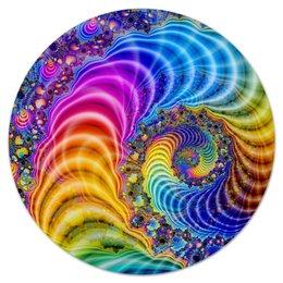"""Коврик для мышки (круглый) """"Яркий мир"""" - психоделика, абстракция, мандала, mandala"""