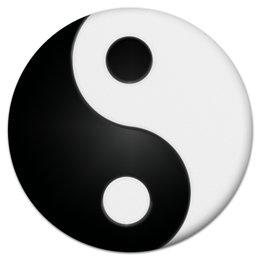 """Коврик для мышки (круглый) """"Инь и ян"""" - азия, религия, символика, инь и ян"""