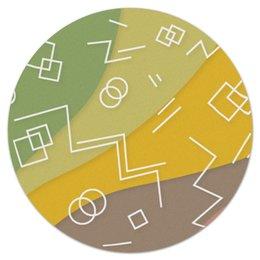 """Коврик для мышки (круглый) """"Графическая абстракция."""" - радуга, фигура, графика, абстракция, искусство"""