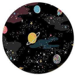 """Коврик для мышки (круглый) """"Космос. """" - космос, коврик для мыши, для бизнеса, для дома"""