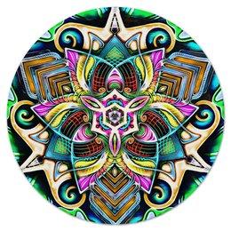 """Коврик для мышки (круглый) """"Mandala HD 4"""" - узор, ретро, классика, этно, симметрия"""