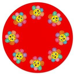 """Коврик для мышки (круглый) """" Солнышко"""" - цветок, солнце, веселое настроение"""