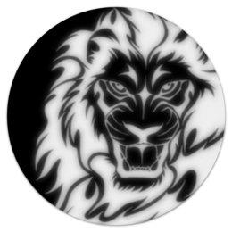"""Коврик для мышки (круглый) """"Король лев"""" - африка, лев, мудрость, сила, смелость"""