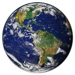 """Коврик для мышки (круглый) """"Планета Земля"""" - планета, америка, космос, вселенная"""
