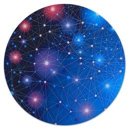 """Коврик для мышки (круглый) """"Созвездие"""" - звезды, планета, космос, созвездие, галактика"""