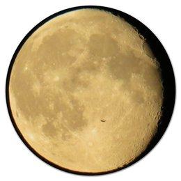 "Коврик для мышки (круглый) ""Moon / Луна"" - луна, планеты, moon, wikel"