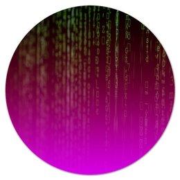 "Коврик для мышки (круглый) ""матрица"" - компьютеры, матрица, код, программа, пароль"