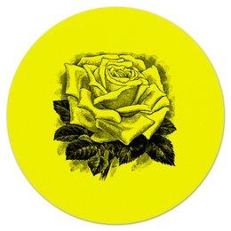 """Коврик для мышки (круглый) """" Цветок"""" - цветы, роза, розы, букет, шипы"""