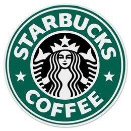 "Коврик для мышки (круглый) ""Starbucks "" - кофе, coffee, starbucks, старбакс"
