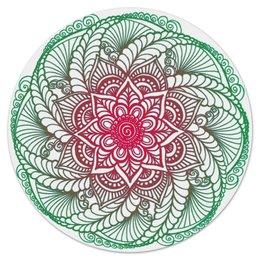 """Коврик для мышки (круглый) """"Мандала-цветок в стиле мехенди"""" - цветы, узор, орнамент, мандала, мехенди"""