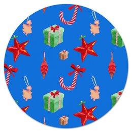 """Коврик для мышки (круглый) """"новый год"""" - конфеты, новый год, подарки, рождество, christmas"""