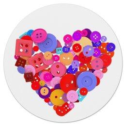 """Коврик для мышки (круглый) """"День всех влюбленных"""" - любовь, день святого валентина, валентинка, i love you, день влюбленных"""