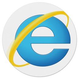 """Коврик для мышки (круглый) """"Enternet Explorer"""" - logo, браузер"""