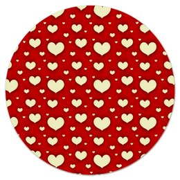 """Коврик для мышки (круглый) """"Сердце"""" - любовь, сердца, день святого валентина, сердечки, я люблю"""