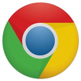 "Коврик для мышки (круглый) "" Chrome Browser"" - logo, chrome, браузер"