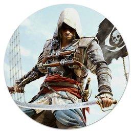 "Коврик для мышки (круглый) ""Эдвард"" - игры, пират, pirate, edward, assassin's creed"