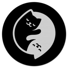 """Коврик для мышки (круглый) """"Кошки мышки"""" - животные, для мышки, котята, домашние"""