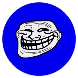 """Коврик для мышки (круглый) """"Mem смех"""" - смех, приколы, лицо, мемы, mem"""