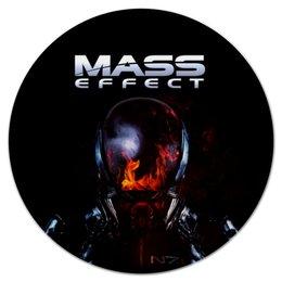 """Коврик для мышки (круглый) """"Mass Effect"""" - компьютерные игры, mass effect, n7, масс эффект, геймерские"""