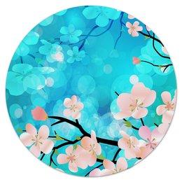 """Коврик для мышки (круглый) """"Цветущее дерево"""" - цветы, весна, деревья, природа, цветочки"""