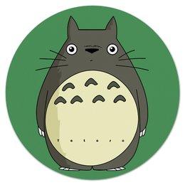 """Коврик для мышки (круглый) """"Тоторо"""" - аниме, япония, тоторо, totoro, миядзаки"""
