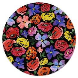 """Коврик для мышки (круглый) """"цветочки"""" - лето, цветы, узор, природа, цветочки"""