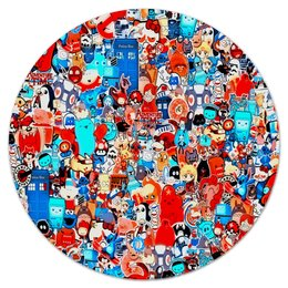 """Коврик для мышки (круглый) """"Мульт"""" - мультики, симпсоны, игрушки, покемон, человек паук"""